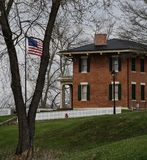 Back-corner of U.S. Grant's House. This is a Spring picture of the back-corner of the historic back-corner of President U.S. Grant's house located in Galena Stock Photography