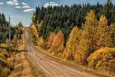 Back Country Road. Country road north of Cochrane AB Canada Stock Photos