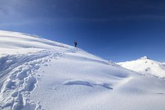 Back country skiing Stock Photography