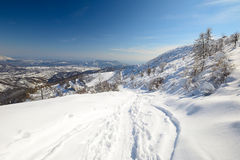 Back country skiing Stock Photos