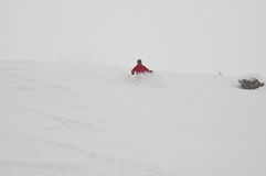 Back-country skiing. Off-piste skiing in Trysil, Norway stock image
