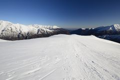 Back country skiing scenic landscape Royalty Free Stock Photos