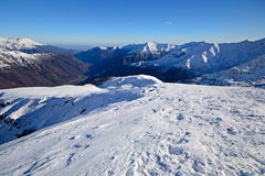 Back country skiing scenic landscape Stock Images
