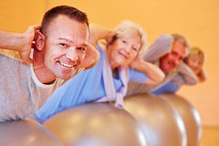 Back course in fitness center Stock Image