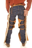 Back of a cowboy in chaps. The back of a cowboy from the waist down Royalty Free Stock Photography