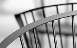 Back curves of chair. Metal chair Royalty Free Stock Photos