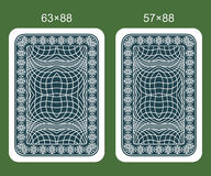 Back designs playing card. Two variants of classical playing cards royalty free illustration