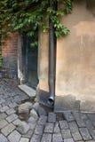 A back door. Of Klara church, Stockholm Stock Images