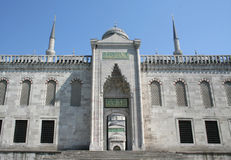 Back door of Blue Mosque Royalty Free Stock Photos