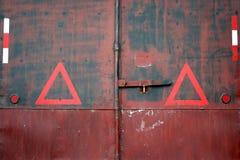 Back door cargo container Stock Photo