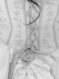The Back of the Dress. A black and white photograph of the back of a Quinceanera gown Royalty Free Stock Photos