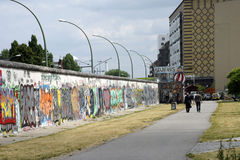 Back of the East Side Gallery Stock Photography