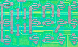 The back of electronic board Stock Images