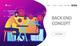 Back end development it concept vector illustration vector illustration
