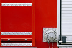 Back end of a fire truck Royalty Free Stock Image