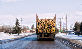 Back end of logging truck Royalty Free Stock Images
