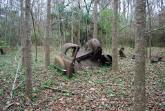 The Back End of an old Ford Great Swamp Sanctuary stock photo