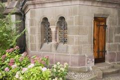 Back entrance of church Royalty Free Stock Photo