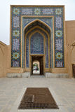 Back entrance of Jame Mosque in Yazd Stock Images