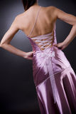 Back of evening dress Stock Image