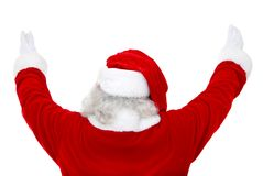 Back of excited Santa Claus Royalty Free Stock Images