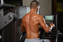 Back Exercise Of A Young Bodybuilder Royalty Free Stock Photo