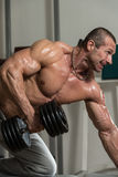 Back Exercises With Dumbbell Royalty Free Stock Photo