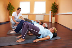 Back exercises in a group Stock Photos