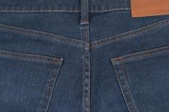 Back för blå jean för närbild Royaltyfria Bilder