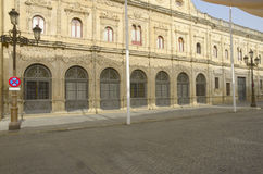 Back facade of the City council in Seville Stock Photo
