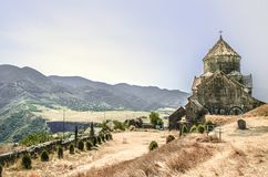 Back facade of the monastery Gregory the Illuminator  in the Armenian village of Haghpat Stock Photo