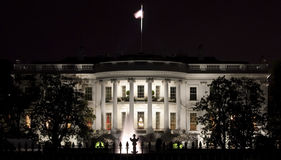 Back facade of the White House Royalty Free Stock Photography