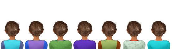 Back Facing Audience Spectators Illustration Royalty Free Stock Photos