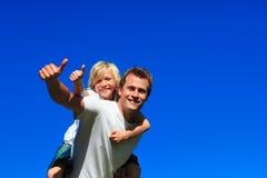 back father s son thumbs up Στοκ εικόνες με δικαίωμα ελεύθερης χρήσης