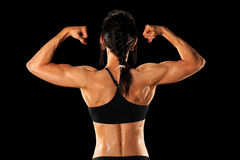 Back of Female Aathlete Royalty Free Stock Photos