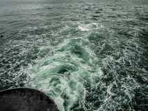 Back of Ferry Boat Crossing Ocean Stock Photos