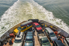 Back of a ferry boat Royalty Free Stock Image