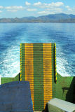 Back of a ferry on the sea Royalty Free Stock Image