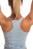 Back of fitness girl Royalty Free Stock Image