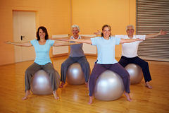 Back fitness in a group Royalty Free Stock Image