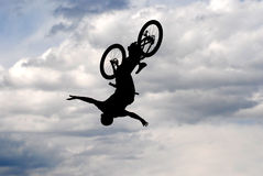 Back Flip Silhouette Royalty Free Stock Image