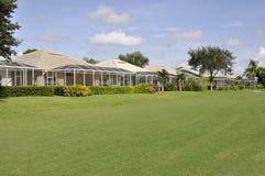 Back of Florida homes stock image