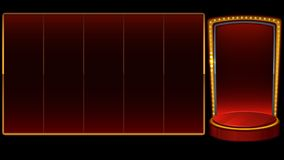 Red background for slots game. With gold frame. Vector illustration royalty free illustration