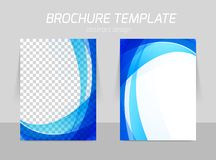 Back and front flyer template design royalty free illustration
