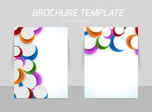 Back and front flyer template design Stock Photo
