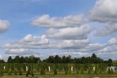 Back garden in palace of versailles,paris,france Stock Photos
