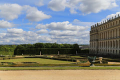Back garden in palace of versailles,paris,france Royalty Free Stock Image