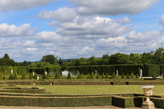 Back garden in palace of versailles,paris,france Royalty Free Stock Images