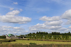Back garden in palace of versailles,paris,france Stock Image
