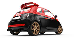 Back of a generic red and black city car Stock Image